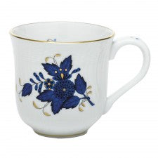 Herend Chinese Bouquet Black Sapphire Mug