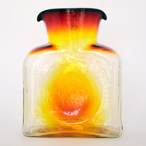 Blenko Glass Water Bottle In Tangerine