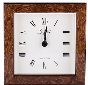 Italian wood  alarm clock brown burl
