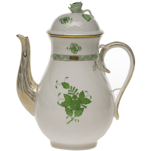 Herend Chinese bouquet green coffee pot