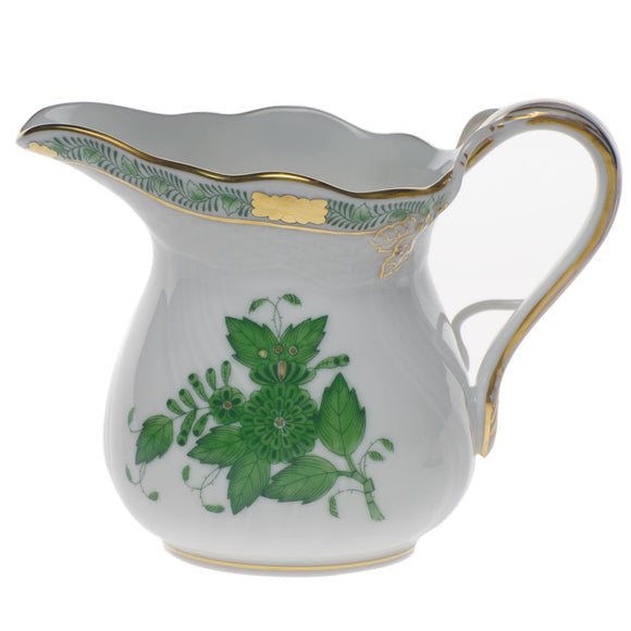 Herend Chinese Bouquet Green Creamer And Sugar