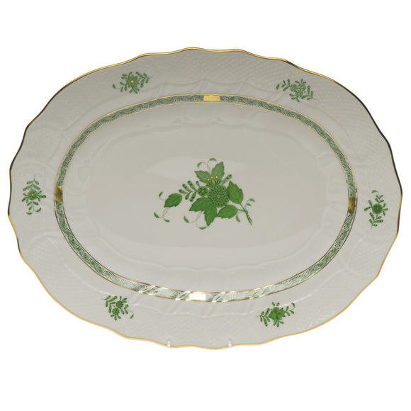 Herend China Chinese bouquet green oval platter