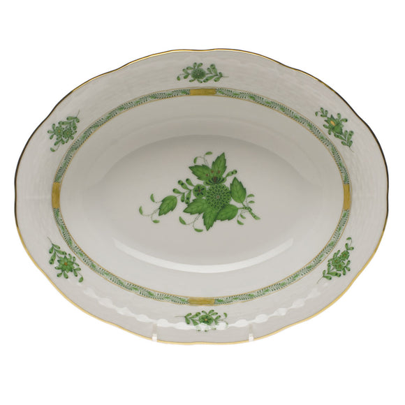 Herend Chinese Bouquet Green Oval Vegetable Bowl
