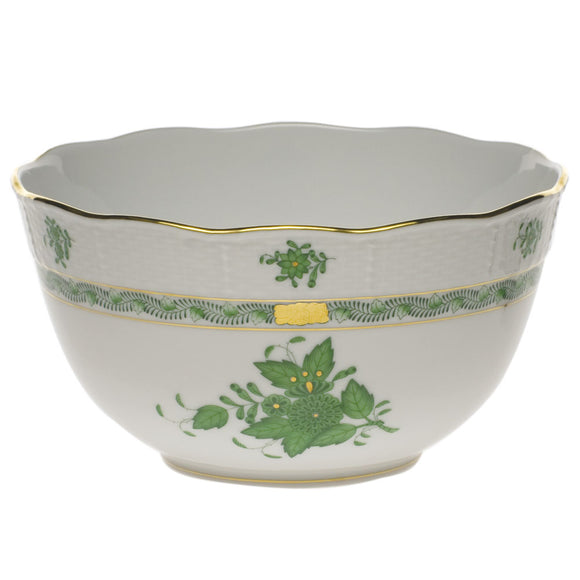 Herend Chinese Bouquet Green Round Bowl