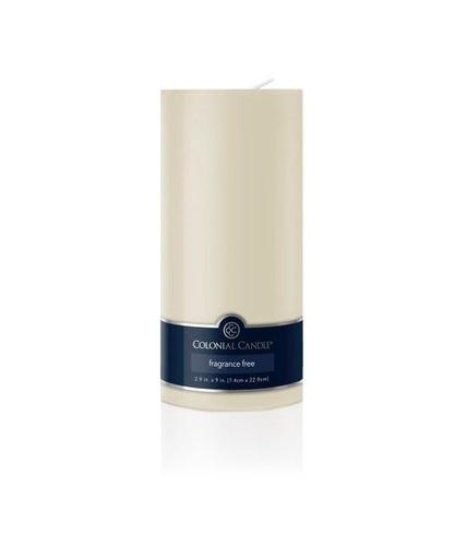 Pillar candle unscented ivory