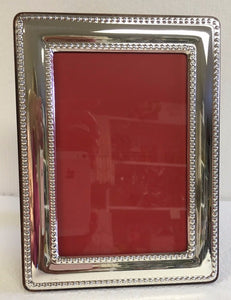 Sterling Silver Frame Beaded 4 x 6