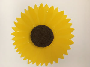Silicone Lid Sunflower 9""