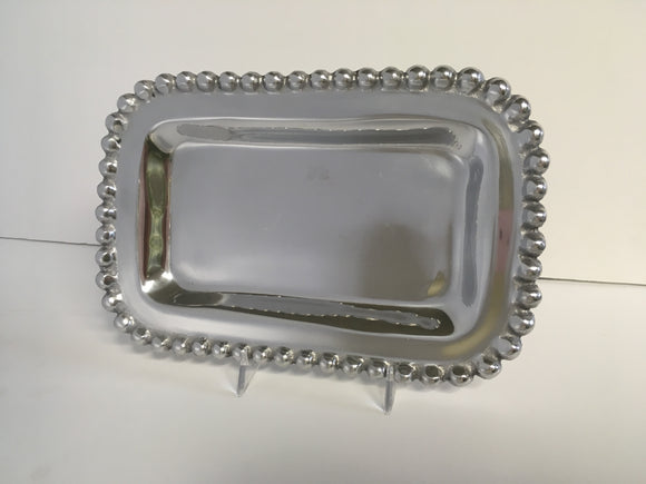 Metalware Tray with Beading