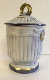 Italian Covered Jar Blue And White