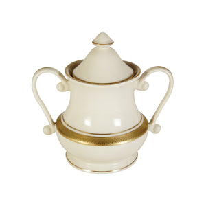 Pickard Palace Ivory Gold Charlene Sugar Bowl & Cover