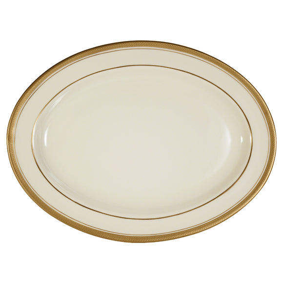 Pickard Palace Ivory & Gold Oval Platter