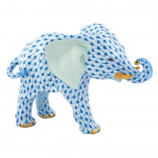 Herend Roaming Elephant Blue