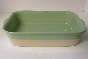 casfina Fattoria Green Medium Rectangular Baker