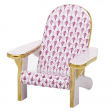 Herend adirondack chair raspberry