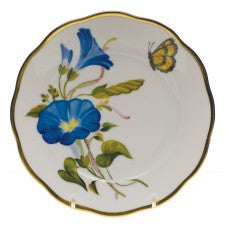 Herend american wildflowers morning glory bread & butter plate