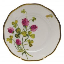 Herend american wildflowers red clover bread & butter plate