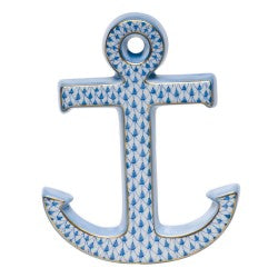 Herend anchor blue paperweight