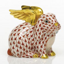 Herend Angel Bunny Rust