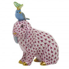 Herend Animal Trio-Pink Blue Lime