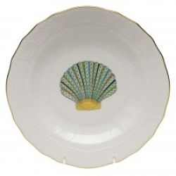 Herend Aquatic Scallop Shell Dessert Plate