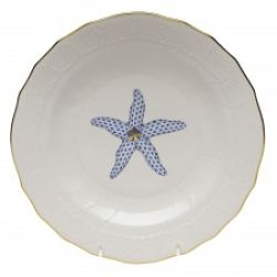 Herend Aquatic Dessert Plate Starfish Blue