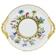 Herend asian garden cake plate