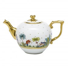 Herend asian garden tea pot with twist
