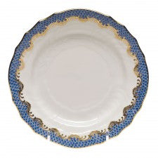 Herend fish scale blue bread & butter plate