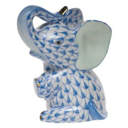 Herend baby elephant blue