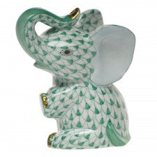 Herend baby elephant green
