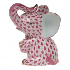 Herend baby elephant pink