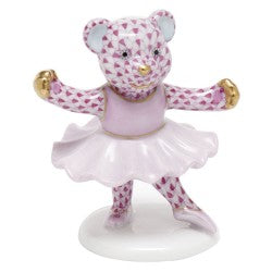Herend Figurines Ballerina Bear Pink