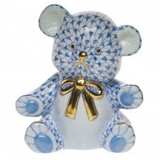 Herend teddy bear blue
