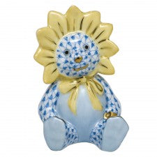 Herend sunflower bear blue