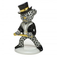 Herend tap dance bear black