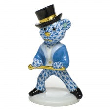 Herend tap dance bear blue