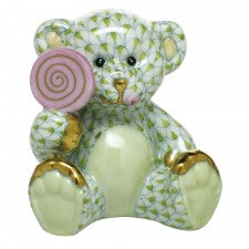 Herend sweet tooth teddy lime green