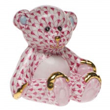 Herend small teddy bear pink