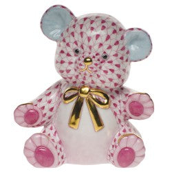 Herend teddy bear pink
