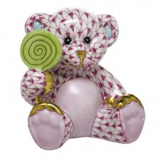 Herend sweet tooth teddy pink