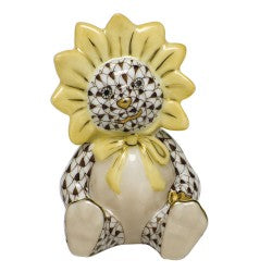 Herend sunflower bear brown