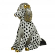Herend figurine poodle black