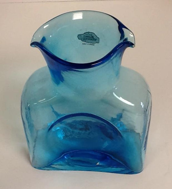 Blenko Glass Water Bottle Ice Blue Large