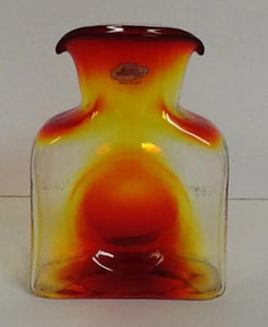 Blenko Glass Water Bottle Tangerine Small