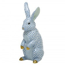 Herend large standing rabbit blue