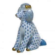 Herend figurine poodle blue