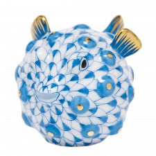 Herend Puffer Fish Blue