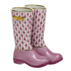 Herend pair of rain boots pink