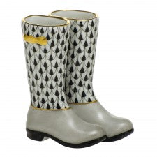 Herend pair of rain boots black