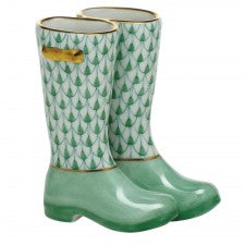 Herend pair of rain boots green